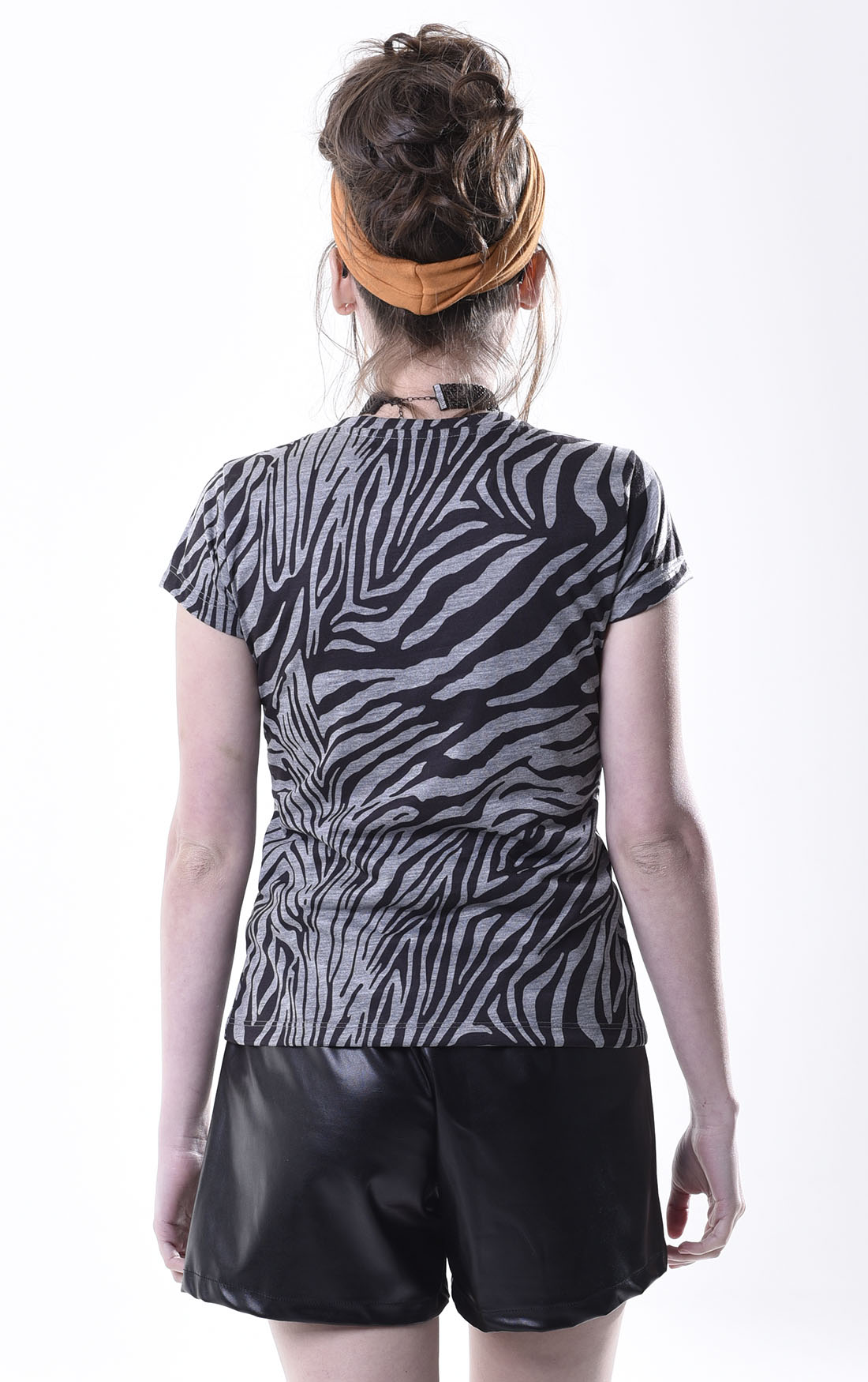 T-Shirt Malha Animal Print Codigo Girls