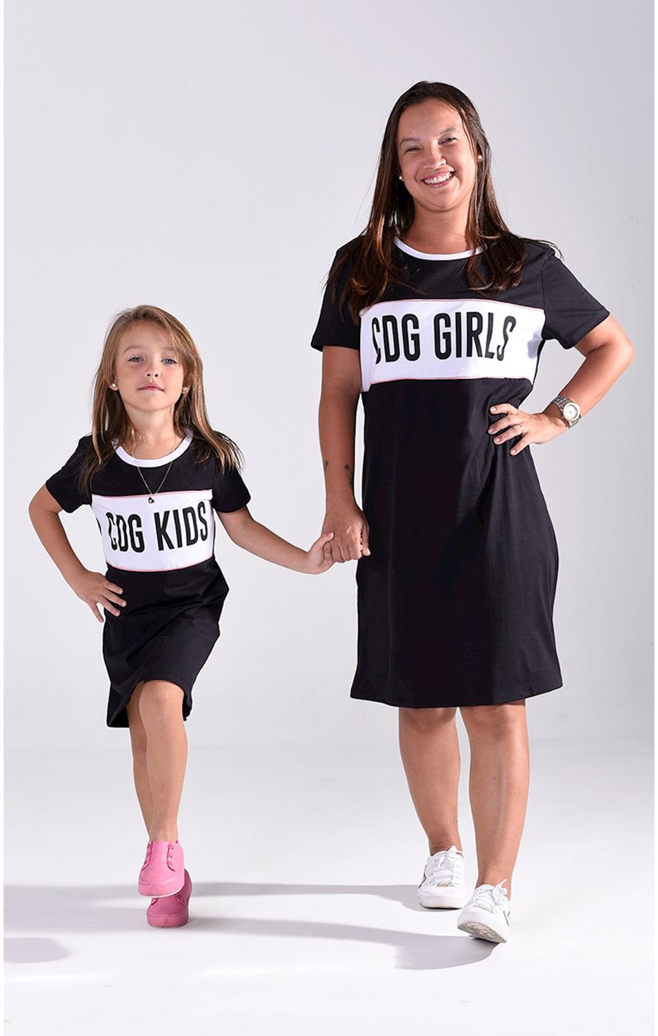 T-Shirt Dress Malha Codigo Girls