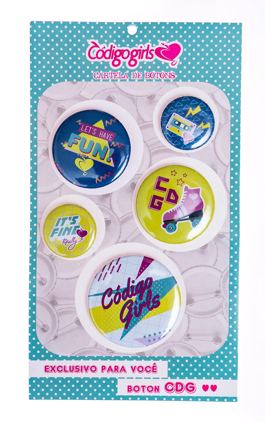 Kit Botton Codigo Girls