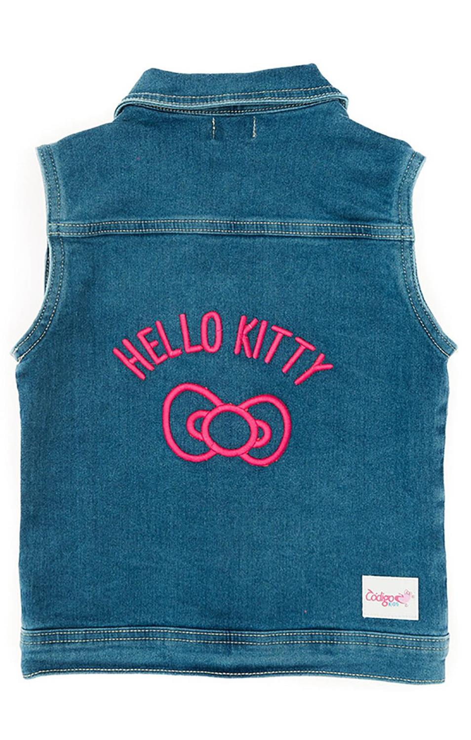 Colete Jeans Hello Kitty